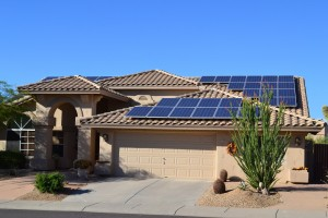 Home electricity via solar panels